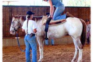 ילדה על סוס